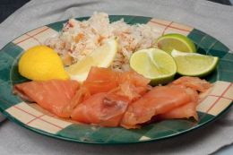 Fresh crab from Westray Processors Ltd and the original Applesmoke Salmon